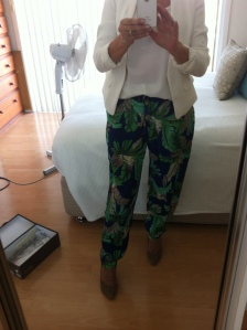boohoo tropical print pants $38